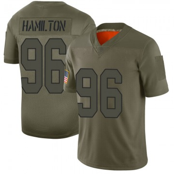 Men's New Orleans Saints Woodrow Hamilton Camo Limited 2019 Salute to Service Jersey By Nike