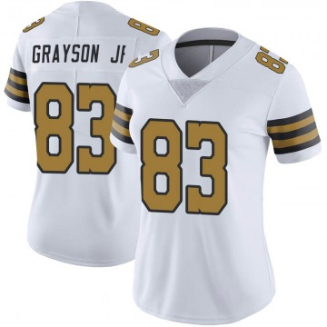 Women's New Orleans Saints Cyril Grayson Jr. White Limited Color Rush Jersey By Nike