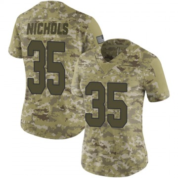 Women's New Orleans Saints Deatrick Nichols Camo Limited 2018 Salute to Service Jersey By Nike