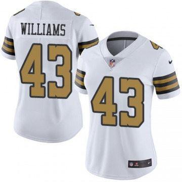 Women's New Orleans Saints Marcus Williams White Limited Color Rush Jersey By Nike