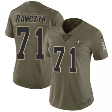 Women's New Orleans Saints Ryan Ramczyk Olive Limited 2017 Salute to Service Jersey By Nike