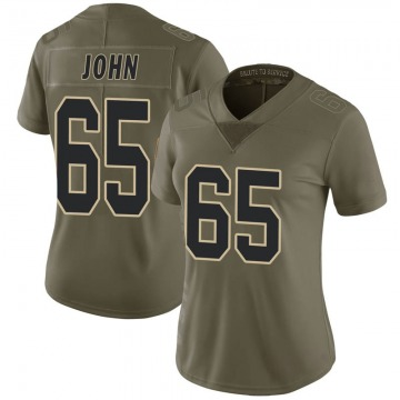 Women's New Orleans Saints Ulrick John Green Limited 2017 Salute to Service Jersey By Nike