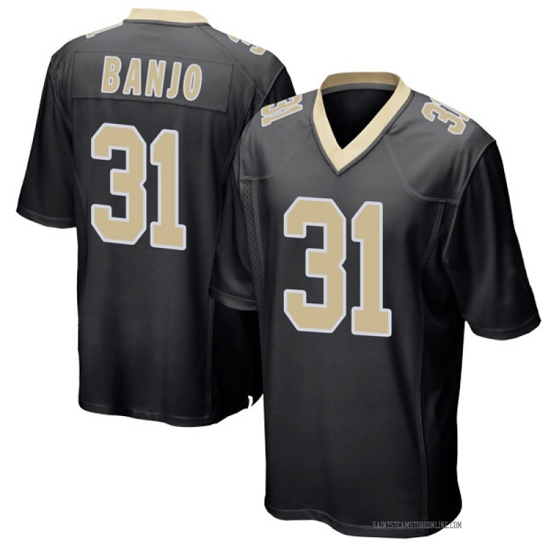Youth New Orleans Saints Chris Banjo Black Game Team Color Jersey By Nike