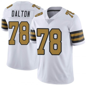 Youth New Orleans Saints Jalen Dalton White Limited Color Rush Jersey By Nike