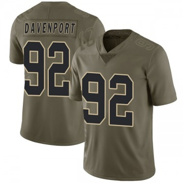 Youth New Orleans Saints Marcus Davenport Green Limited 2017 Salute to Service Jersey By Nike