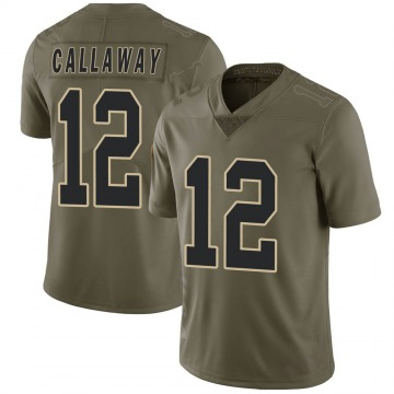 Youth New Orleans Saints Marquez Callaway Green Limited 2017 Salute to Service Jersey By Nike