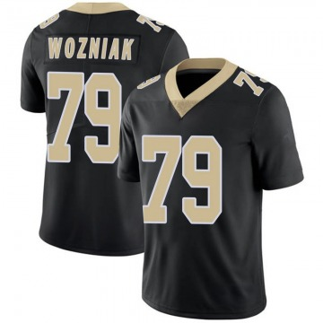 Youth New Orleans Saints Nate Wozniak Black Limited Team Color 100th Vapor Untouchable Jersey By Nike