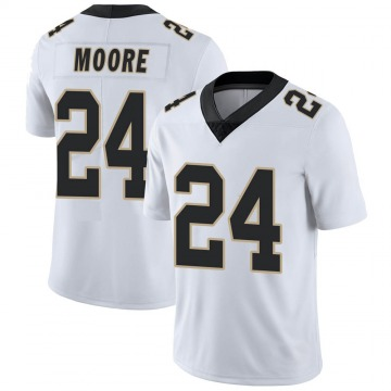 Youth New Orleans Saints Sterling Moore White Limited Vapor Untouchable Jersey By Nike