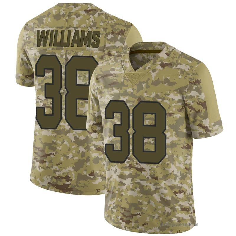 Youth New Orleans Saints Terrell Williams Camo Limited 2018 Salute to Service Jersey By Nike