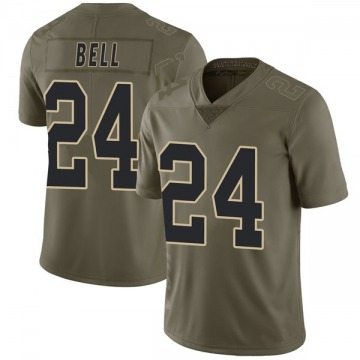 Youth New Orleans Saints Vonn Bell Green Limited 2017 Salute to Service Jersey By Nike